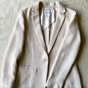 Club Monaco Pale Pink Crepe Blazer